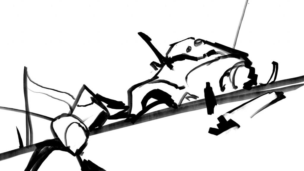 Quickly make a rough line sketch